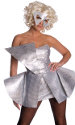 Lady Gaga Costume Silver Sequin Dress S/Small